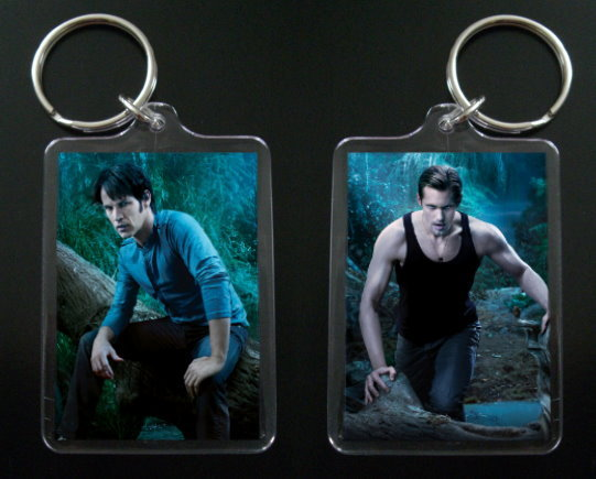 TRUE BLOOD keychain ERIC NORTHMAN & BILL COMPTON