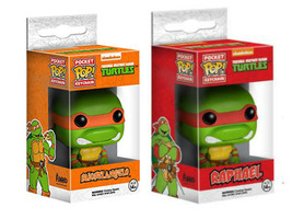 Funko POP! TMNT Michelangelo and Raphael : Pocket POP KeyChain set of 2 - $15.99