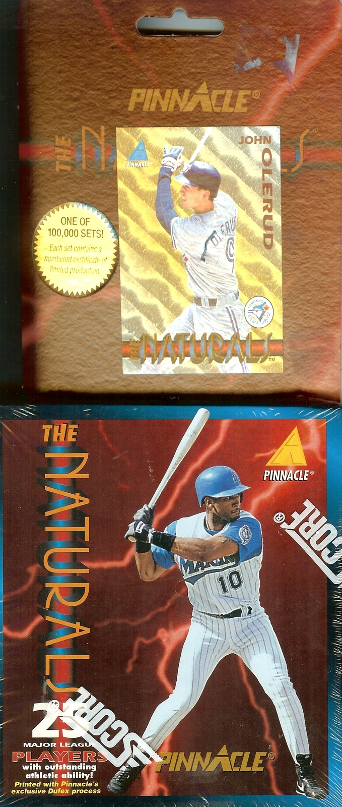 Primary image for 1994 pinnacle the naturals sealed box set w/promo baseball card