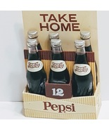 Vintage Pepci Cola Magnetic Crate with Six Magnetic Bottles - $15.00