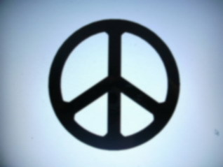 SMALL PEACE SIGN DECAL WINDOW CAR TRUCK TAILGATE GLASS