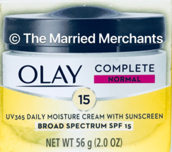 Olay Complete UV 365 Daily Moisturizer SPF 15 Normal Skin 2 oz ea 1/2020 - $8.86