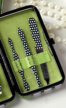 Green Polka Dots Manicure Gift Set