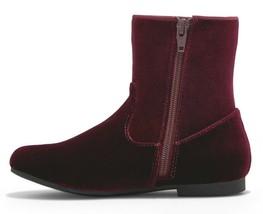 Brand New Little Girl's Art Class Paris Burgundy Red Velvet Fashion Boots NWT image 2