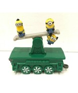 McDonalds Happy Meal Minions Green Train Car Toy #9 Holiday Express Open... - $9.85