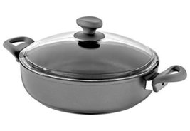 Saflon Titanium Nonstick 4-Quart Saute Pot w/ Tempered Lid, 4mm Forged A... - $37.99