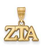 Ss/Gold Plated Sterling Silver With Gp Logoart Zeta Tau Alpha Medium Pen... - $39.94