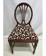 Antique Set 4 Duncan Phyfe Mahogany Dining Room Chairs Oval Shield Back ... - $296.95