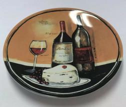 Gourmet Basics By Mikasa Jennifer Garant Sip & Slice Wine & Cheese Plate... - $9.89