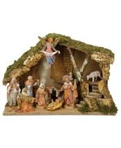 Roman Fontanini Italian Stable 11 Piece Set Nativity Scene - $465.50