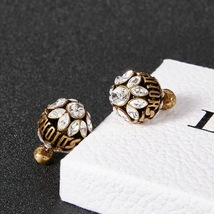 NEW AUTH Christian Dior 2019 DIO(R)EVOLUTION CRYSTAL TRIBALES EARRINGS AGED GOLD image 13