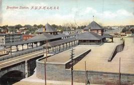 NYNH & H Railroad Depot Brockton Massachusetts 1907 postcard - $6.93