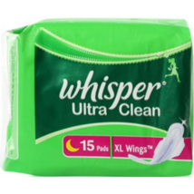 Whisper Ultra Sanitary Pads - XL Wings (15 piece Pack) Fast Shipping - $10.30