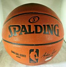 KOBE BRYANT / NBA HALL OF FAME / AUTOGRAPHED FULL SIZE NBA LOGO BASKETBALL / COA image 4