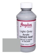 Angelus Acrylic Leather Paint-4oz.-Light Gray - $5.38