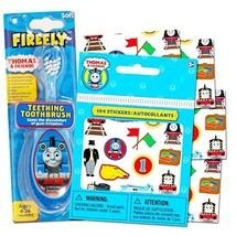 Thomas the Train Baby Toothbrush with Reward Stickers -- Teething Toothbrush Tod