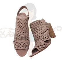 Vince Camuto EKanya Women's Mauve Open Toe Leather Cone Heel Sandals Sz 10M - $34.88
