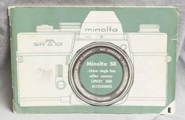 Vintage Minolta SRT-101 Product Instruction Guide Brochure Booklet Manua... - $30.45