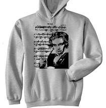 Ludvig Beethoven 2 P - New Cotton Grey Hoodie - $39.80