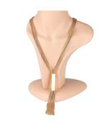 UE - Eye Catching Multi Strand Gold Tone Designer Necklace - $35.99