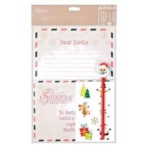 Letter to Santa Kit & Stationary Pencil Eraser Envelope Stickers Childre... - $60,86 MXN