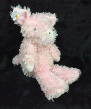 "Manhattan Toy Posy Pig 13"" Furry Pink Daisy Flower Ear 13"" Plush Stuffed... - $19.34"