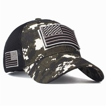 High Quality USA Flag Camouflage Baseball Cap For Men Snapback Hat Army ... - £14.12 GBP