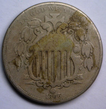 1866 Shield Nickel 5c W/RAYS Vg Very Good Condition - $38.71