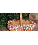 Longaberger Basket Garter Medium Size Tulip Red and White Fabric Garter ... - $10.84