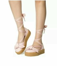 Puma Fenty Women Bow Creeper Pink Sandals Size 6 Rihanna - $30.41