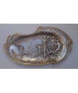 Antique Art Nouveau Hunting Procession of Diana Card Tray early 20th cen... - $448.45