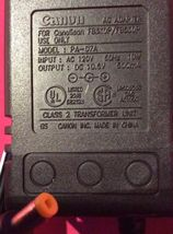 Genuine Canon (PA-07A) 10.5V 500mA 10W 60Hz AC Adapter Power Supply Charger - $14.01