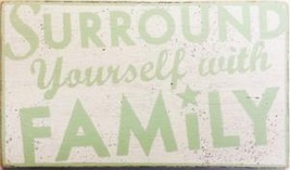 Item 8228 - Surround Yourself With Family - size 11 x 19 - rustic wooden... - $35.00