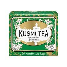 Kusmi Tea - Spearmint Green Tea - Refreshing Green Tea with Spearmint Leaves & M