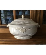 Lenox Butler's Pantry Oval Tureen with Lid (repaired base); no Ladle - $125.00