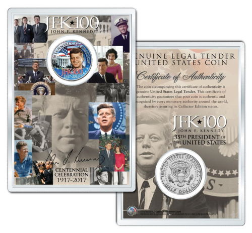 Primary image for Whitehouse JOHN F KENNEDY 100th BIRTHDAY 2017 Kennedy Half Dollar w/ 4x6 JFK*100