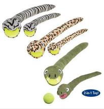 Grriggles Tennis Ball Crawlers Dog Toys Plush Snake Pet Toy Balls 2 toys... - £5.71 GBP+