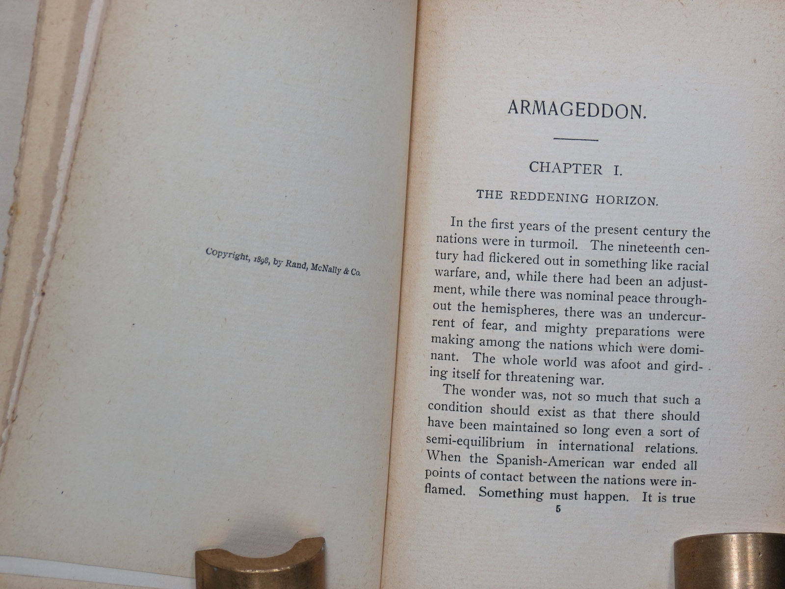 Antique Book . Armageddon A Tale of Love War and Invention Stanley Waterloo 1898