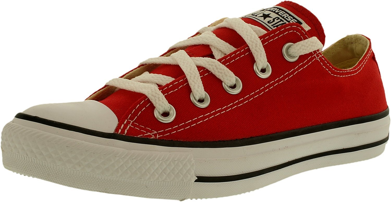 823e8428a25b Converse Men s Chuck Taylor All Star Core Low Top Canvas Red Ankle-High  Rubbe.
