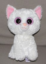 "Ty Beanie Boo Boos CASHMERE the White Cat 9"" MEDIUM Stuffed Plush Pink 2011 - $56.42"