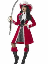 Deluxe Authentic Lady Captain Costume, Small, Fancy Dress, Womens, US 4-... - $70.34