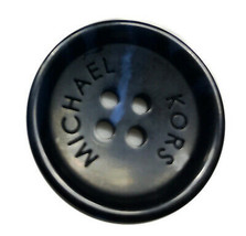 "Michael Kors Plastic Black Blue Streaks Main Coat Replacement Button 1"" - $6.74"