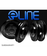 New BMW eLINE Series - Diamond Slotted Rotors Black Front & Rear SHIPS T... - $144.99