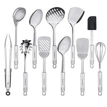 Stainless Steel Utensils, 11 Pieces Kitchen Utensil Set for Cooking with... - €34,98 EUR