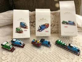 Lot of 3 Hallmark Keepsake Thomas The Train & Percy Christmas Ornaments - $37.40