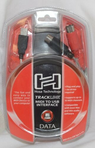 Hosa Technology USM422 Tracklink MIDI To USB Interface 6 Foot Cable