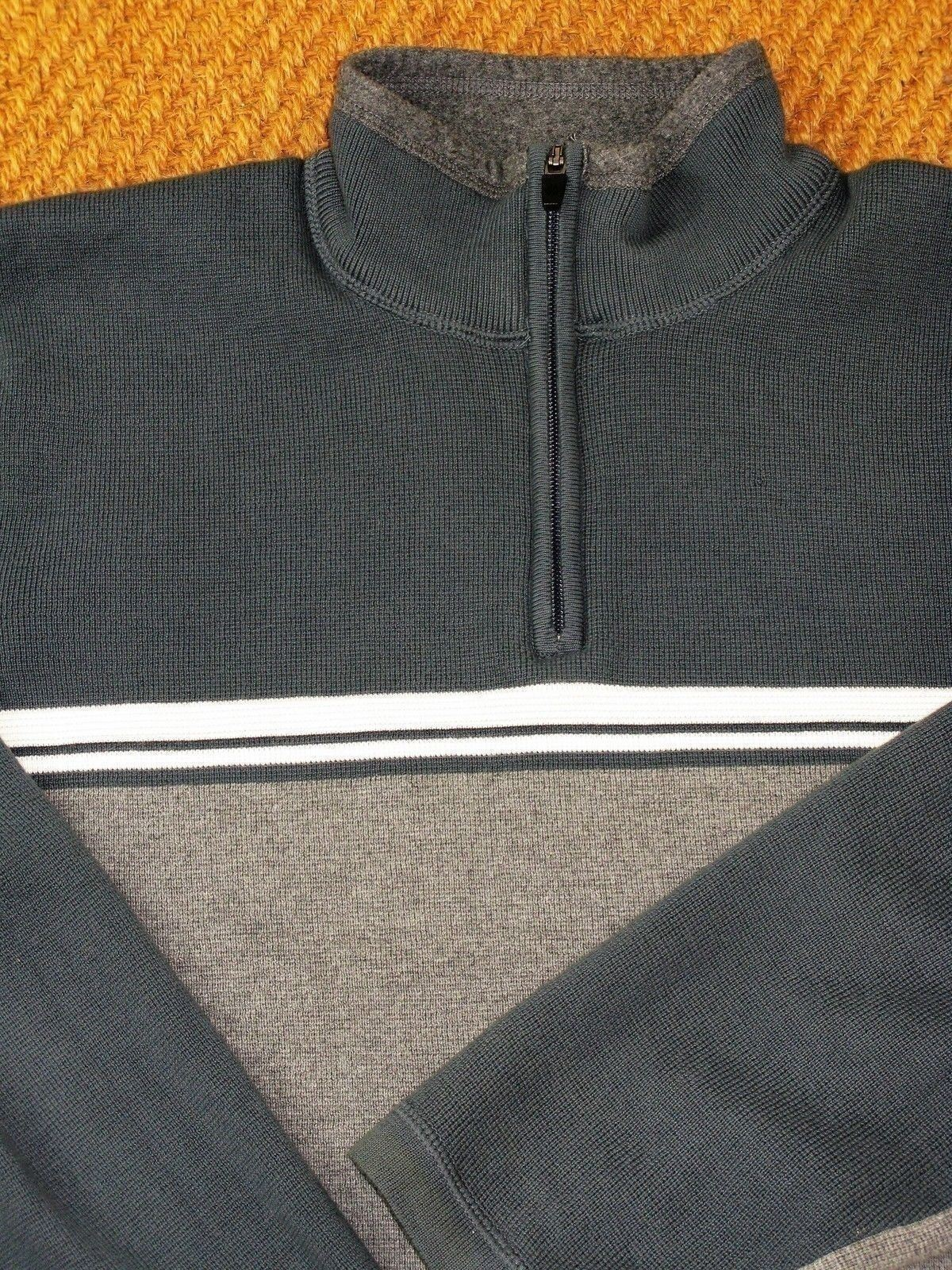 Pullover Sweater Eddie Bauer 1/4 Zip Pullover Cotton Knit Sweater L $88 MSRP