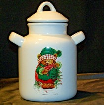 Christmas Double Handle Ceramic Cookie Jar w Lid Item # 252 1P1 AA-191963  Colle image 1