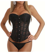 Sexy Bridal See Through Black Lace Corset NEW 8... - $34.99