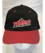 Terrible's St. Jo Frontier Casino Black Baseball Hat Red Bill Snapback (... - $9.79